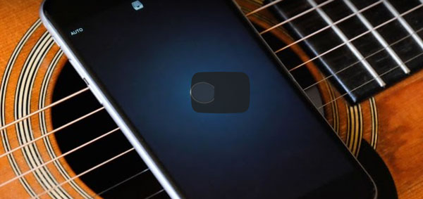 Guitarra y Apple con la música