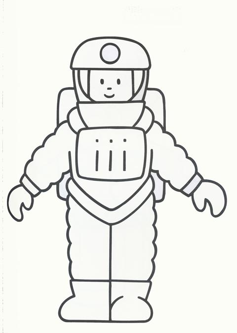 Dibujos para colorear: Astronauta