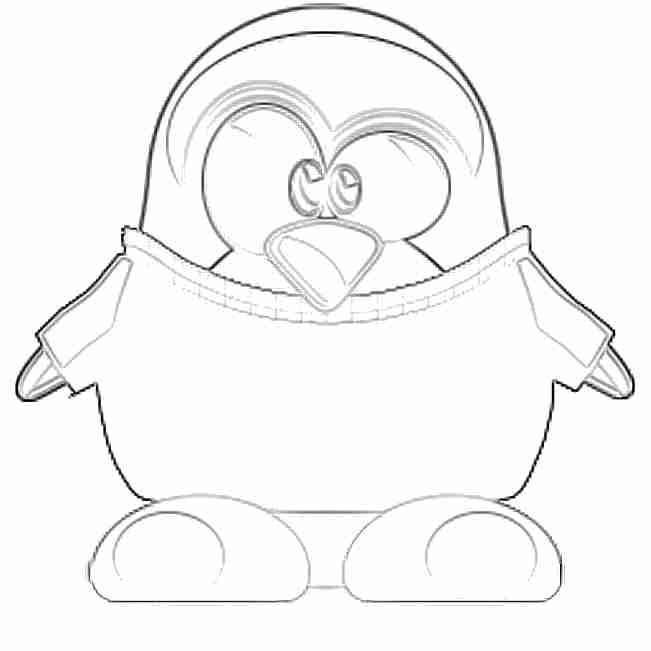 Pingüinos Tux para colorear, dibujos para niños