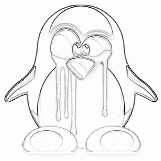 Pingüinos Tux para colorear niños