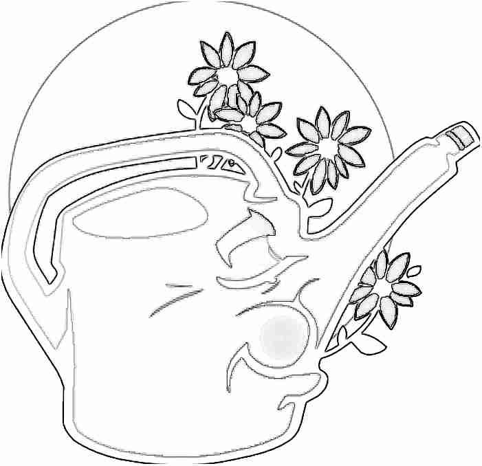Regadera De Baño Para Colorear:Dibujos De Flores Regadera Y Para Colorear Dibujo Picture