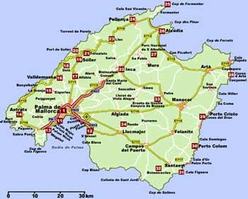 Mapa De Mallorca Municipios.Mapa Mallorca Municipios Mapa
